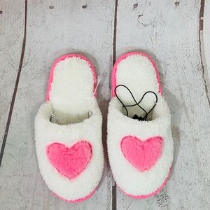 """💖 HEART SLEEPERS """"S"""" white/pink"""